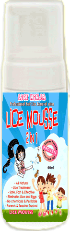 Lice Mousse-lice mousse, lice ninja, mousse